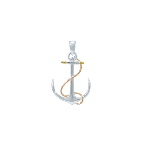 Anchor Three Tone Pendant OMG635