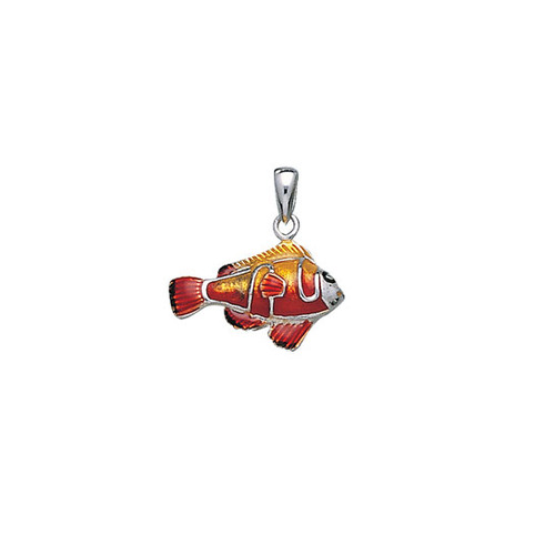 Clown Fish Sterling Silver Pendant  TP2425