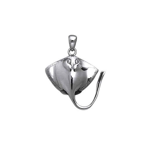 Inlaid Stingrays Sterling Silver Pendant  TPD051