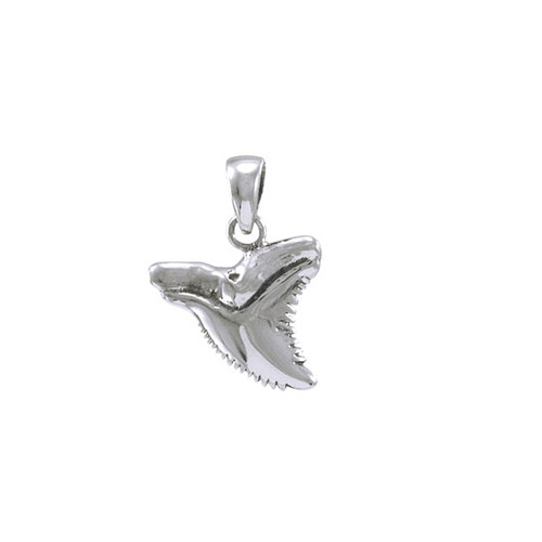 Shark Tooth Sterling Silver Pendant  JP031