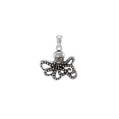 Octopus Sterling Silver Pendant  TP2450