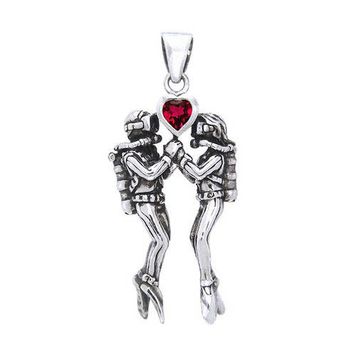 Undersea Lovers Sterling Silver Pendant TP2685