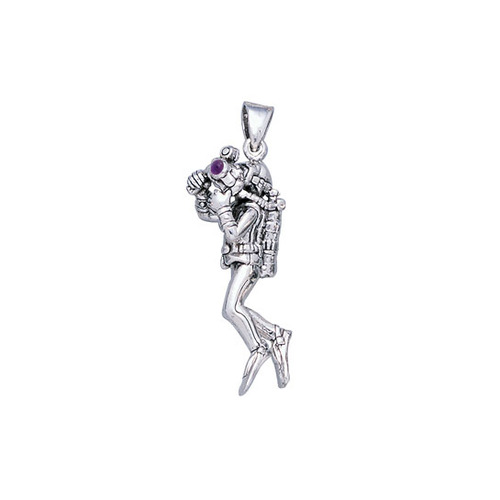 Underwater Photographer Sterling Silver Pendant TP2721-AM