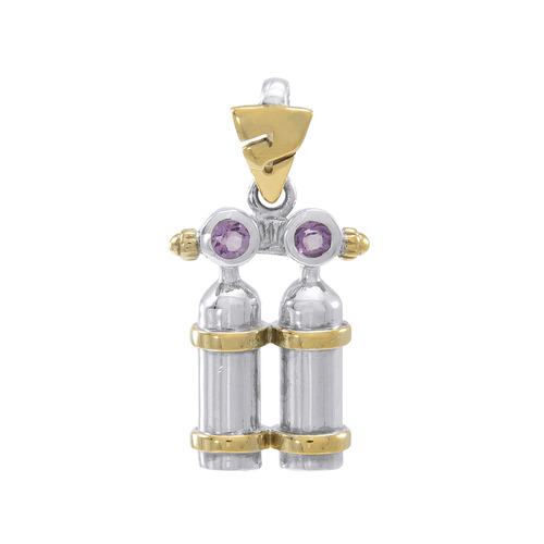 Air Tanks  Gold Plated Pendant  MPD693